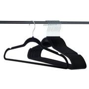 50 Pack Clothes Hangers Black Velvet Hangers Clothes Hanger Ultra Thin