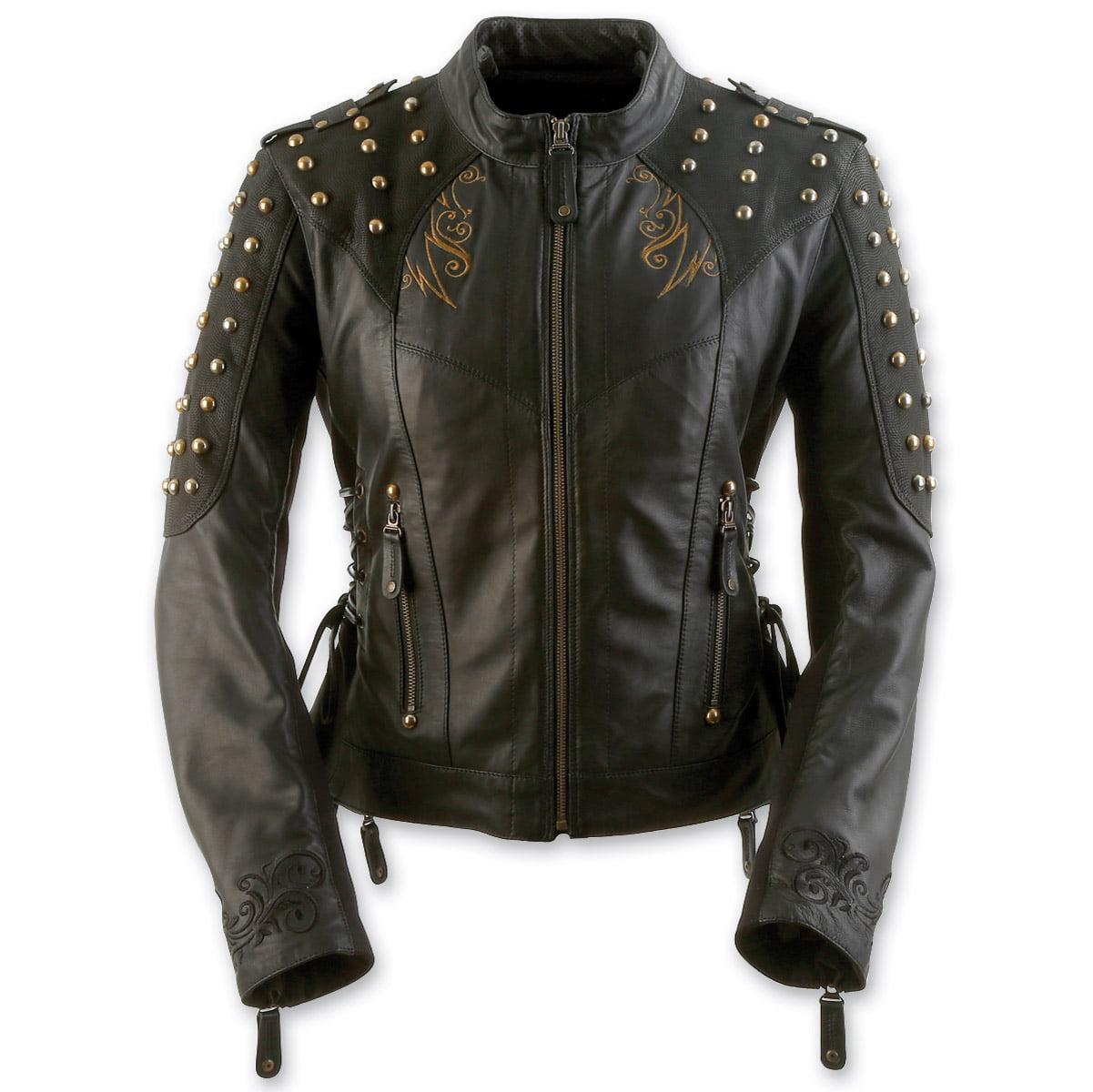 Black Brand Mantra Womens Leather Jacket Black
