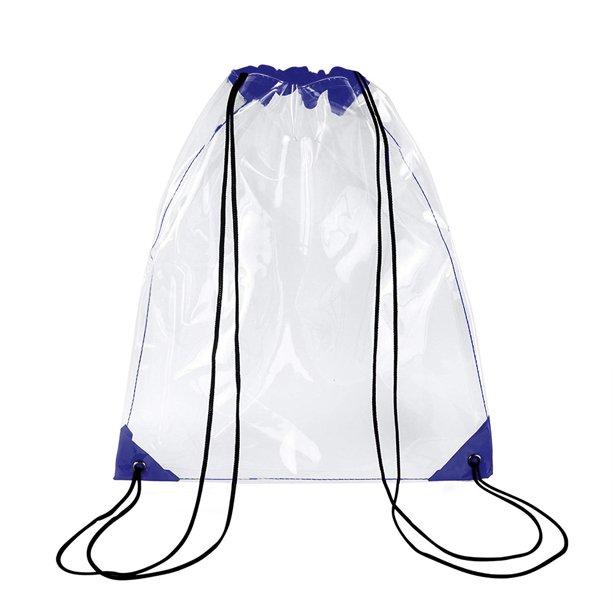 Waterproof Stadium Clear Drawstring Bag