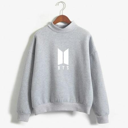 Hoodies For Women Bangtan Boys Letter Printed Fans Supportive BTS Album Hoodie Long Sleeve Winter Sweatshirt