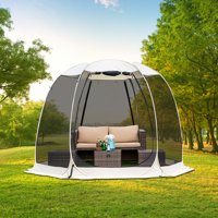 10'x10' Gazebo Pop Up with Mosquito Netting Portable Beige