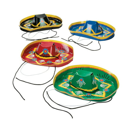 Fun Express - Paper Mariachi Hats for Cinco de Mayo - Apparel Accessories - Hats - Party Hats - Cinco de Mayo - 12 Pieces (Mariachi Clothing)