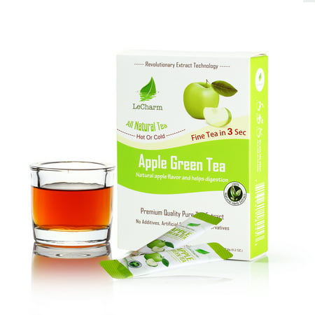 LeCharm Fruit Tea 100% Natural Apple Green Unsweetened  Green Tea (10 (Apple Green Tea Tea)