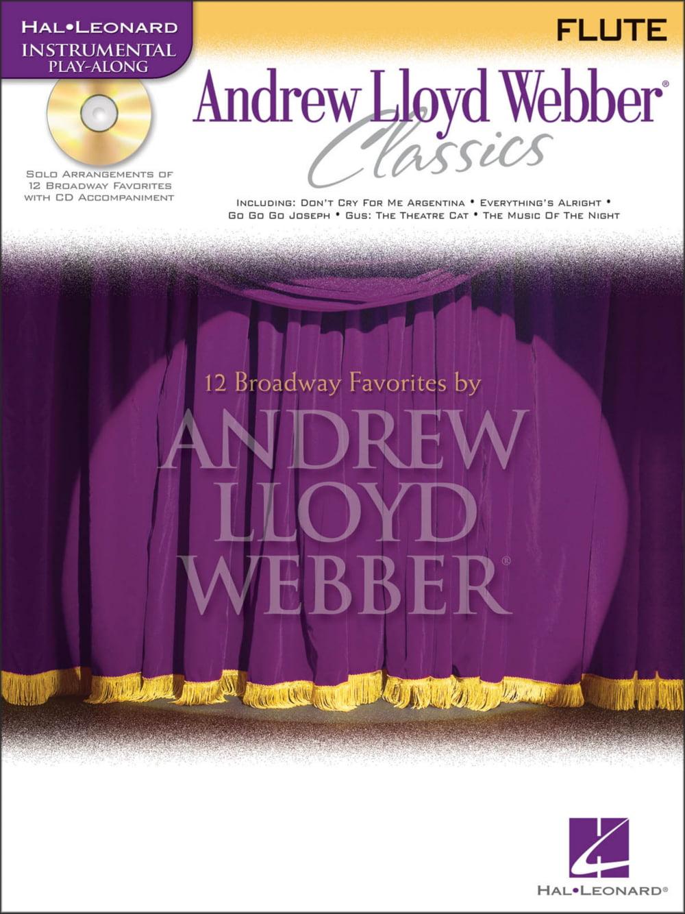 Hal Leonard Andrew Lloyd Webber Classics for Flute Book CD by