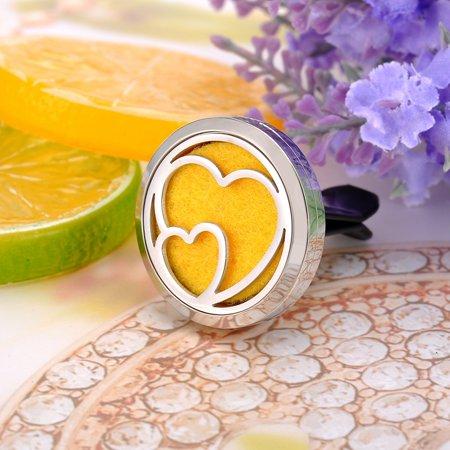 Loving Heart Perfume Aromatherapy Car Essential Oil Diffuser Car Vent Clip