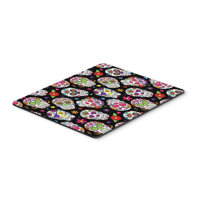 Day of the Dead Black Mouse Pad, Hot Pad or Trivet