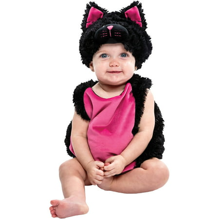 Black Cat Bubble Infant Halloween Dress Up / Role Play Costume