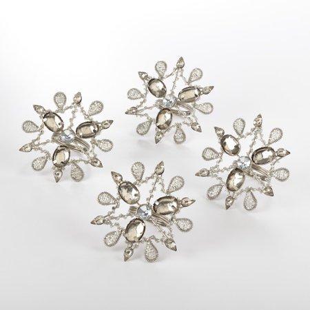 Snowflake Napkin Rings (Saro Snowflake Napkin Ring (Set of)