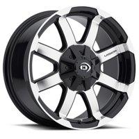 "Vision 413 Valor 15x7.5 6x5.5"" -12mm Black/Machined Wheel Rim 15"" Inch"