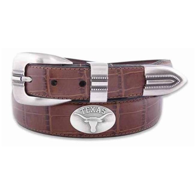 Brown ZEP-PRO NCAA boys Ncaa Southern Miss Golden Eagles Zep-pro Childrens Leather Concho Belt