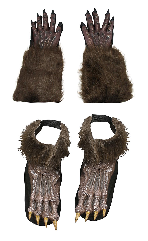 Brown Werewolf Hairy Feet Costume Accessory