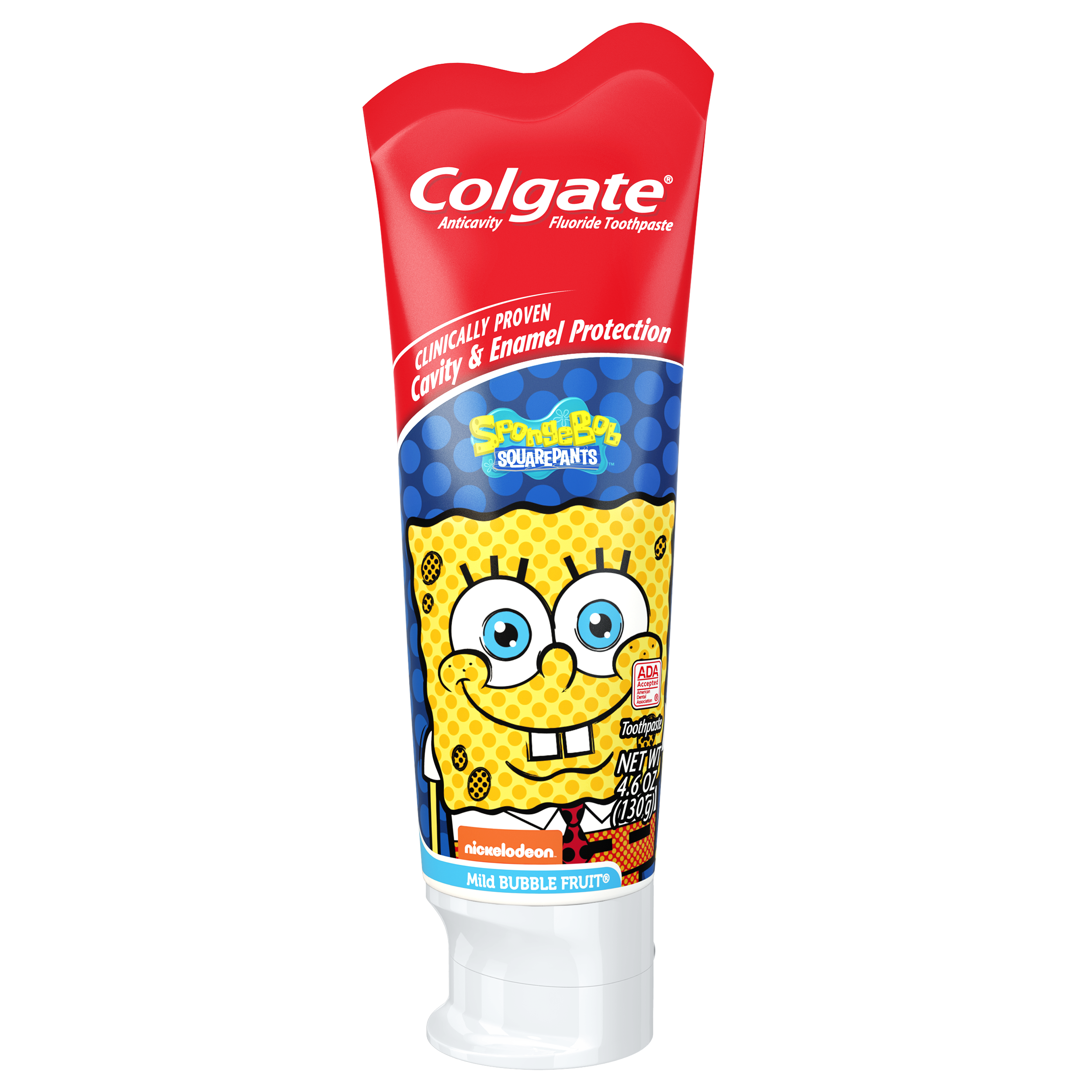 Colgate Spongebob Squarepants Fluoride Toothpaste Mild Bubble Fruit, 4.6 oz