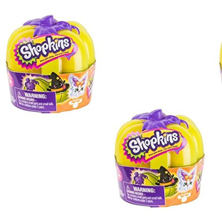Shopkins Pumpkin Glow in Dark Halloween 2017 (2-pack bundle)