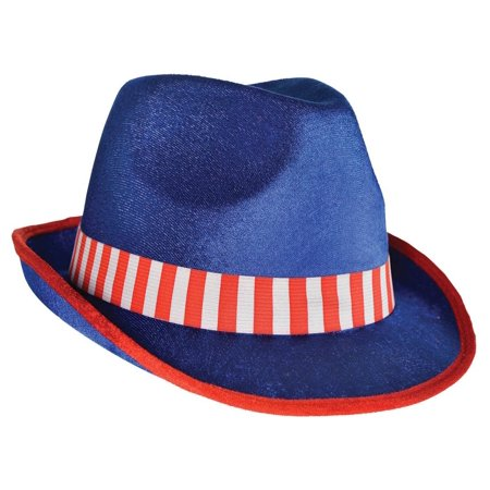 Amscan 4th of July Fedora Hat in Patriotic Stripe - Striped Fedora