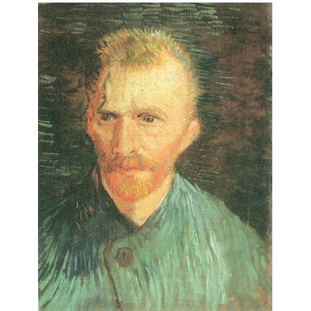 Framed Art for Your Wall Gogh, Vincent Willem van - Self -portrait, bareheaded, hair cut short, in a closed skirt 10 x 13 Frame