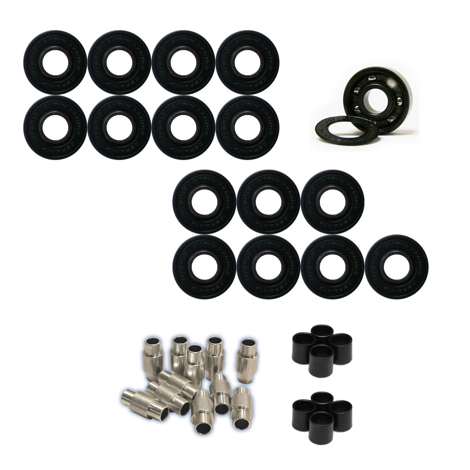 AMPHETAMINE Roller Hockey Bearings Inline Skate SPEED KIT Ceramic Hybrid by Amphetamine
