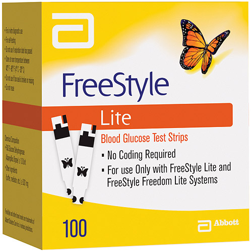 FreeStyle Lite Blood Glucose Test Strips, 100 count