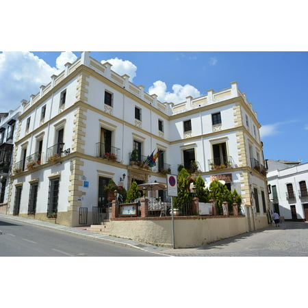 Canvas Print Building Ronda Andalusia Places of Interest Stretched Canvas 10 X 14 ()