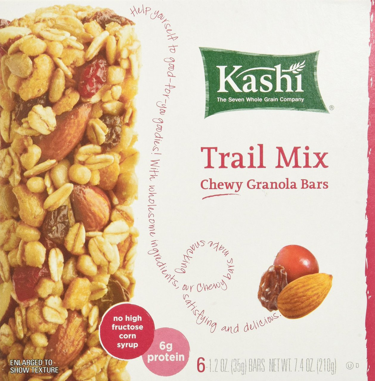 12 PACKS : Kashi TLC Chewy Granola Bar, Trail Mix, 7.4-Ounce Packages