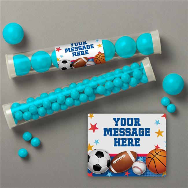 Costume Supercenter BB1008TUBE Sports Birthday Personalized Candy Tubes