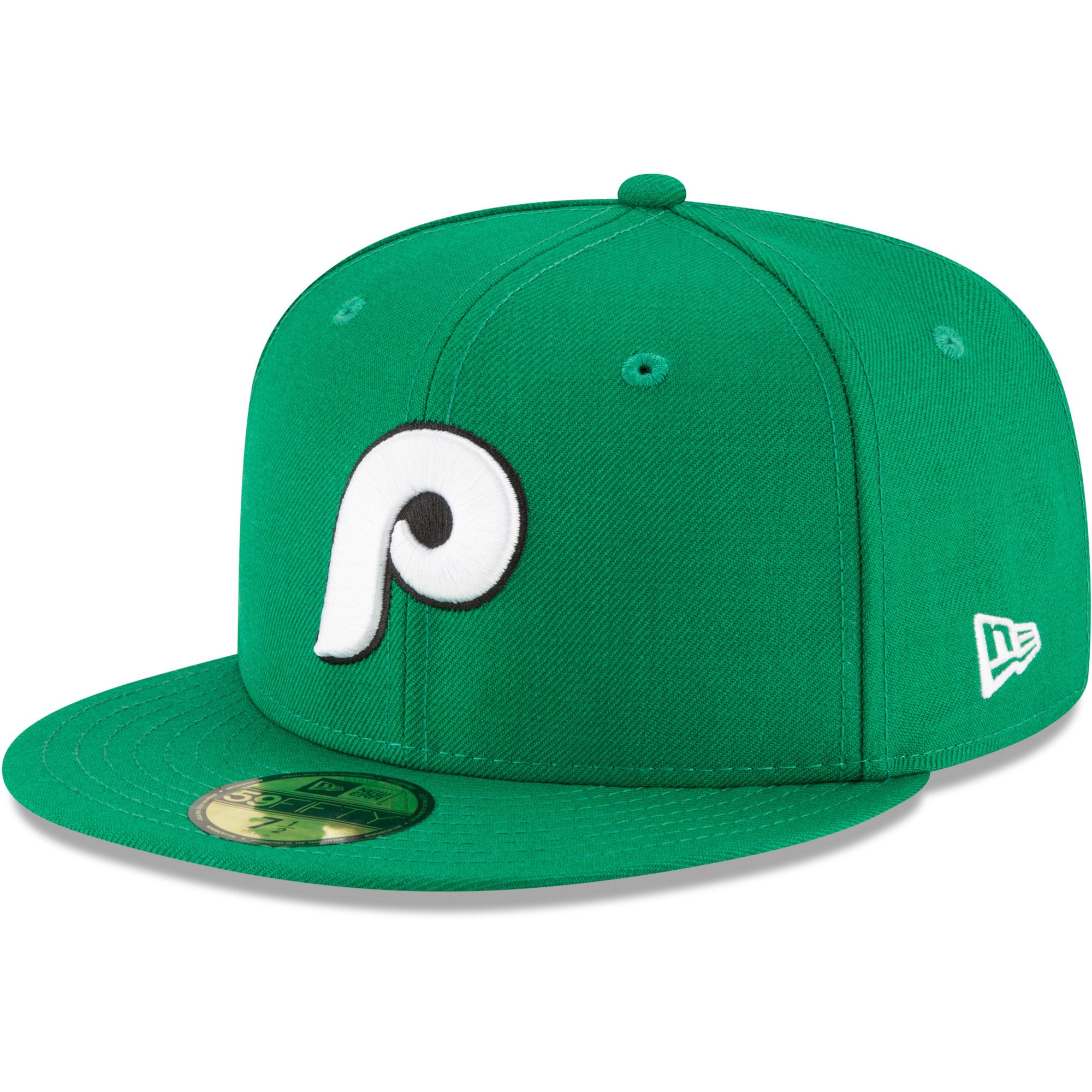 Philadelphia Phillies New Era Crossover 59FIFTY Fitted Hat - Kelly Green