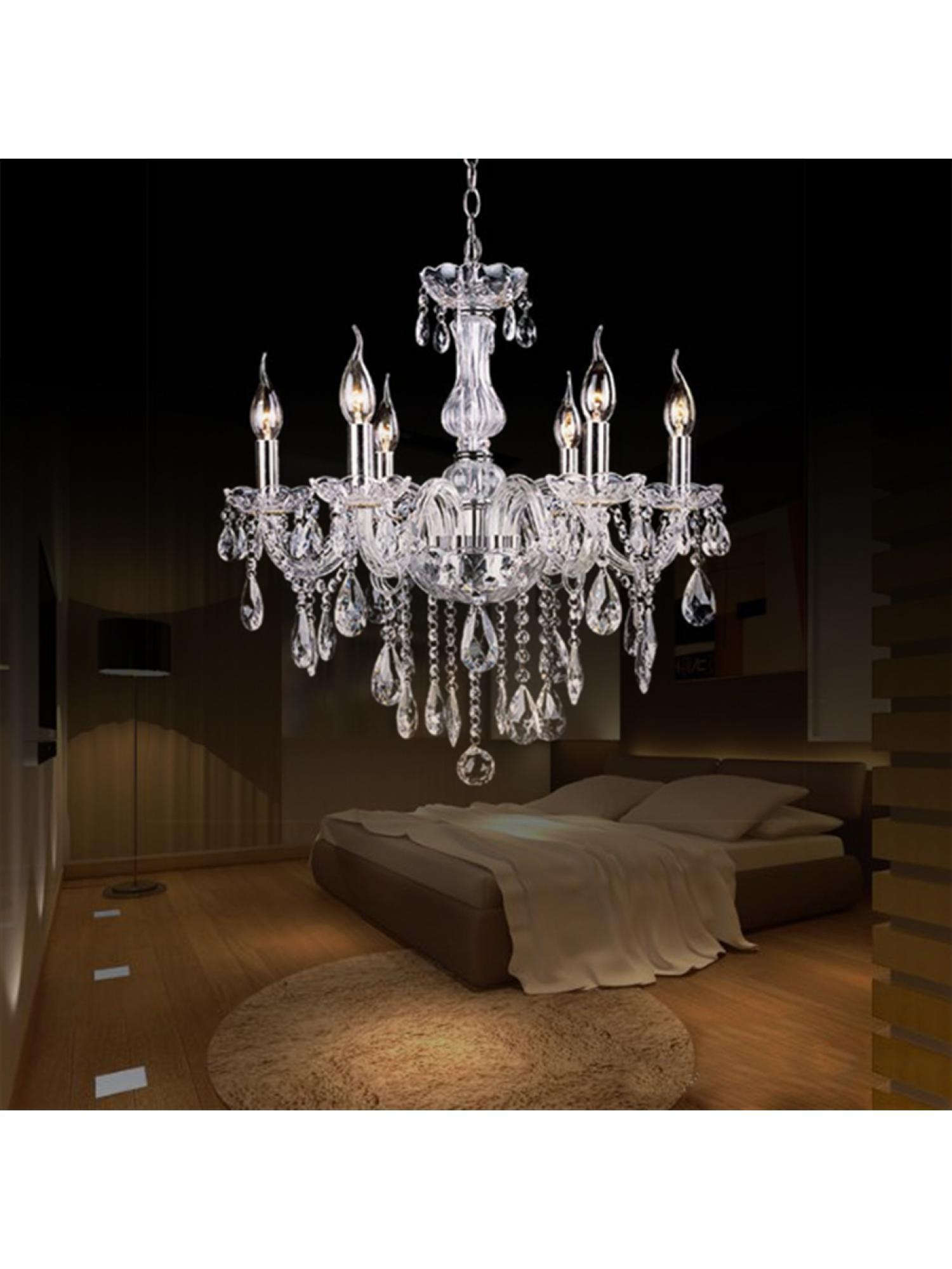 Crystal Lamp Fixture Pendant 6 Lights Ceiling Chain Candle Chandelier smt by Unbrand