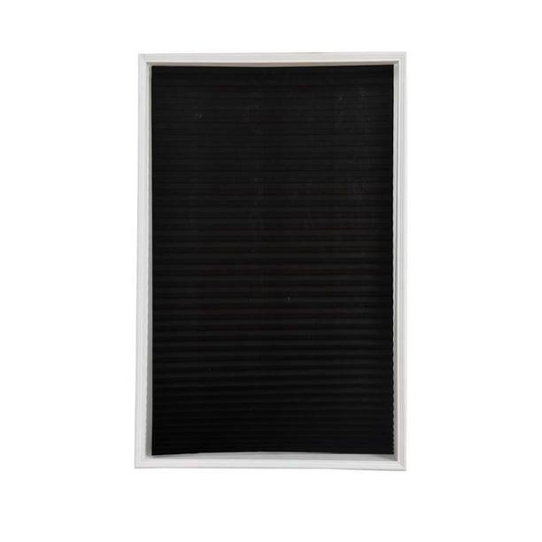 Self-Adhesive Pleated Blinds Half Blackout Bathroom Windows Curtains Shades