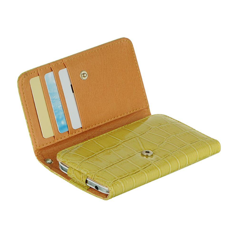 """Insten Universal Wallet-Style Carrying Case Compatible with 4"""" to 5"""" Smartphones, Green Crocodile - image 2 de 3"""
