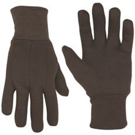 CLC COTTON BLEND BROWN JERSEY GLOVES, ONE SIZE FITS ALL Lamont Cotton Jersey Gloves