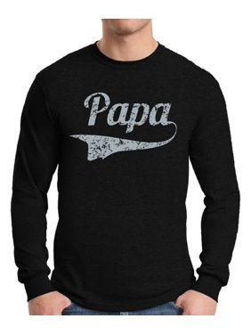 c4a998c8 Product Image Awkward Styles Men's Papa Graphic Long Sleeve T-shirt Tops  Vintage Father`s Day