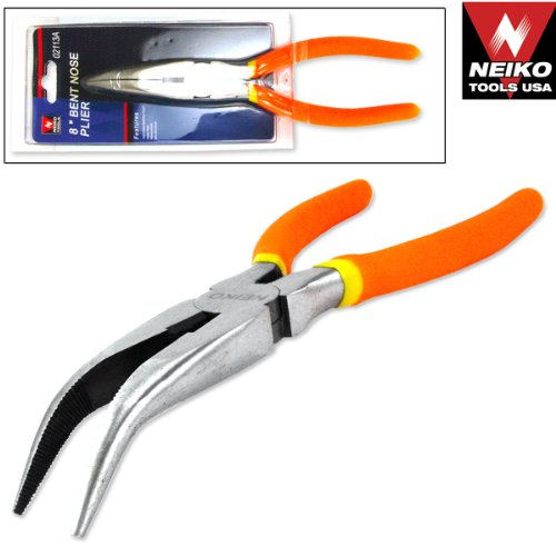 "Tools USA 8"" Bent Nose Pliers, Bent nose pliers By Neiko"