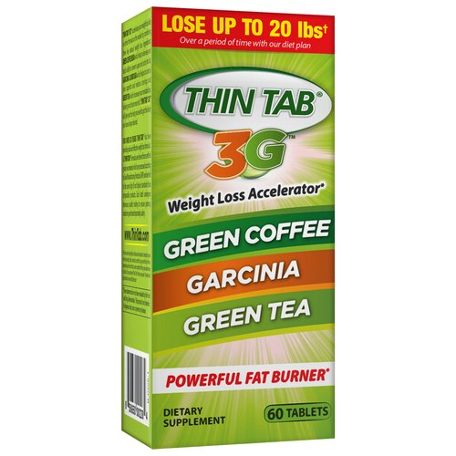 Thin Tab 3G Weight Loss Accelerator Dietary Supplement Tablets, 60 count