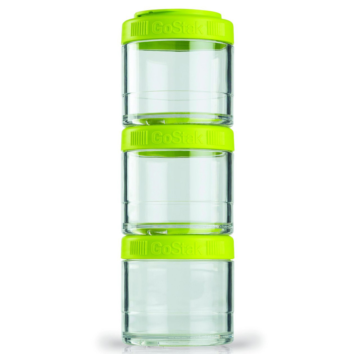 Blender Bottle GoStak 100cc 3Pak Twist n' Lock Storage Jars by