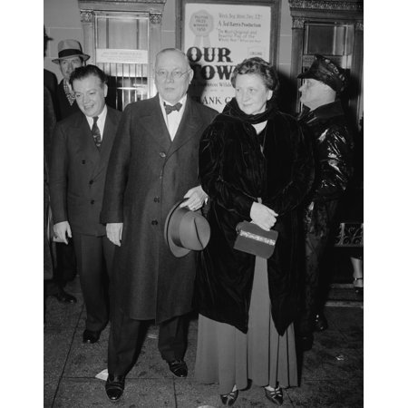 Secretary Of Labor Frances Perkins And Afl President William Green At The National Theater Attending Pins And Needles History