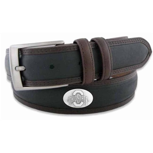 ZeppelinProducts OSU-BBLPS-BLK-38 Ohio State Concho Two Tone Leather Belt, 38 Waist - image 1 de 1