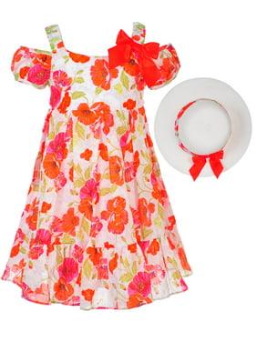 2e6d2605f7 Product Image Bonnie Jean Girls' Cold Shoulder Dress with Hat