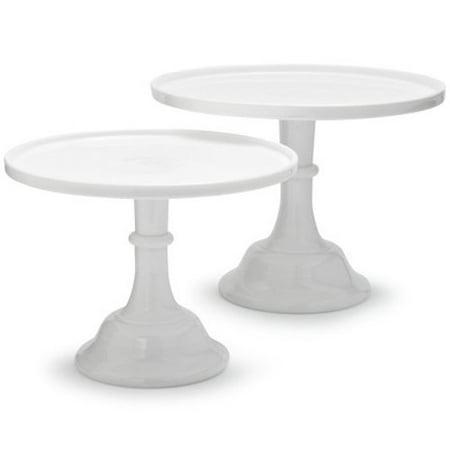 "Mosser Glass 12"" Milk Glass Cake Plate/stand"