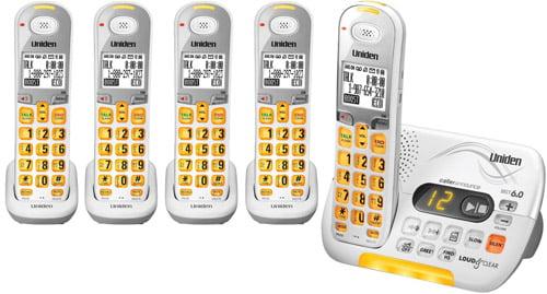 Uniden D3097-5�Cordless Phone w  DECT 6.0 Technology & Voicemail LED Indicator by Uniden