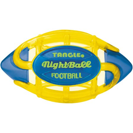 Tangle Night Football  Small  Yellow Body Blue Tips