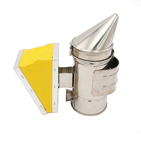 Image of Bee Hive Smoker Bee Keeper Smoker Stainless Steel Heat Chamber Yellow Bellow Beekeeping Equipment Bee Smoker for Beekeeper