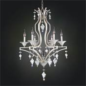 Allegri by Kalco Lighting 11675-022-FR001 Florence 6 Light Chandelier in Tarnish