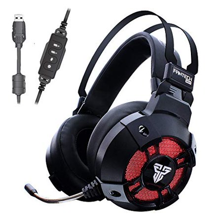 FANTECH HG11 Gaming Headset, True 7.1 Surround Sound Gaming Headphones for FPS Game, 50mm Driver, Stereo Over Ear USB