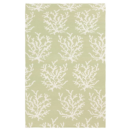 Somerset Bay Boardwalk Lime/White Area Rug