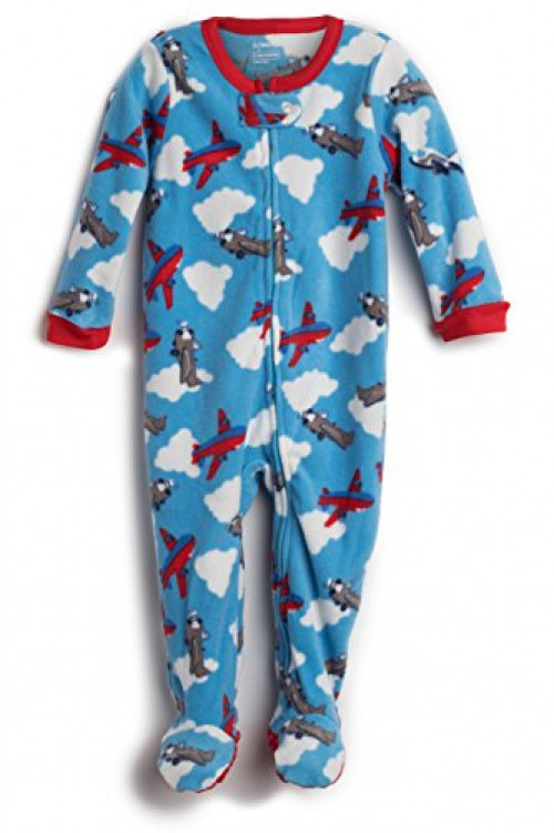 Elowel Baby Girls Footed Airplane Pajama Sleeper 100% Cotton 18-24 Months