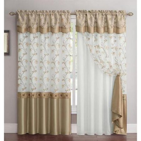 Vcny Audrey 2 Layer Curtain Panel With Attached Backing