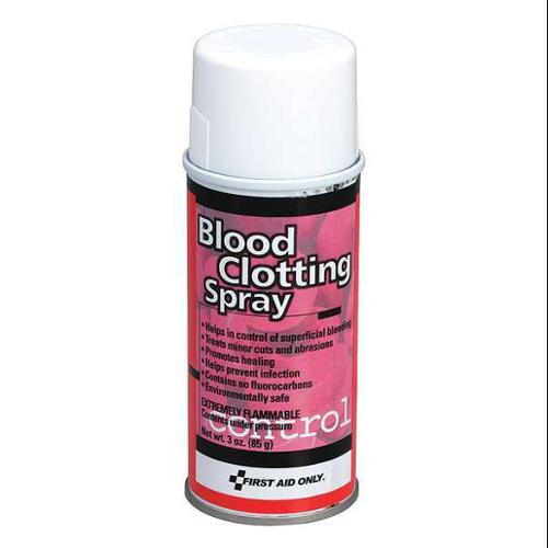 FIRST AID ONLY M529GR Blood Clotting Spray,Bottle,3 oz. G2276121