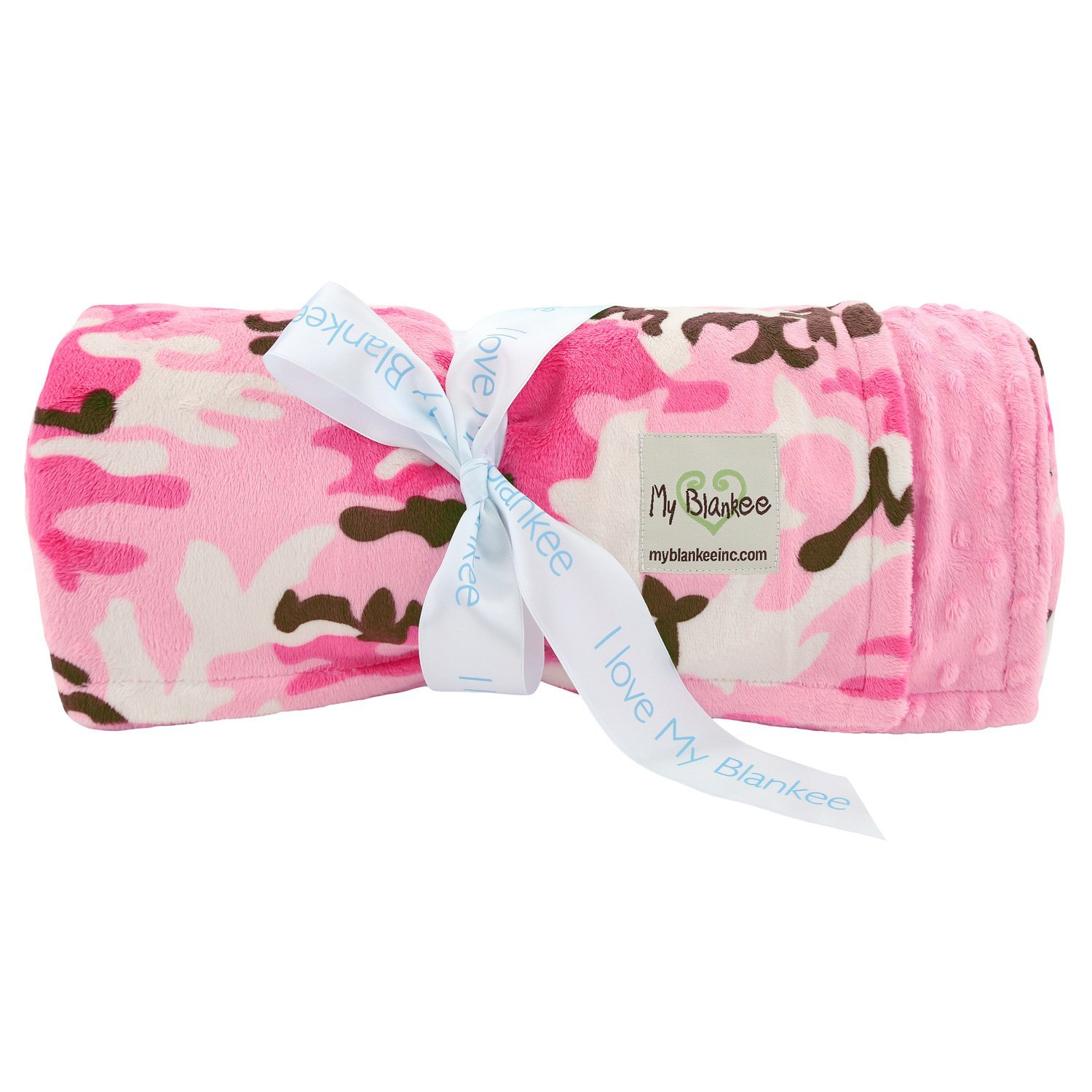 My Blankee Pink Camouflage W/ Minky Dot Back Hot Pink Thr...