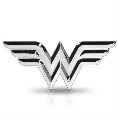 Wonder Woman 3D ABS Chrome Auto - Wonder Woman Emblem