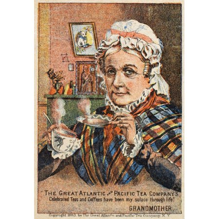 Tea Trade Card C1880 Nthe Great Atlantic And Pacific Tea Company New York American MerchantS Trade Card C1880 Poster Print by Granger