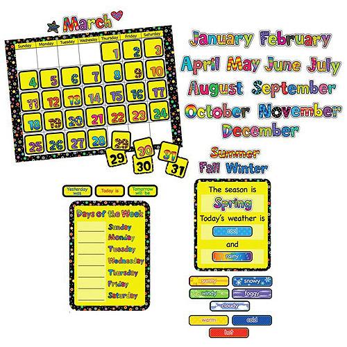 """Creative Teaching Press Poppin Patterns Calendar Chart Set, 24"""" x 17.5"""", Set of 44"""